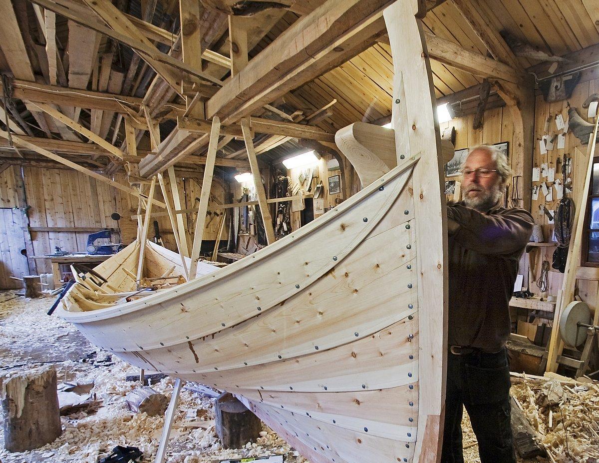 Båtbygger Gunnar Eldjarn
