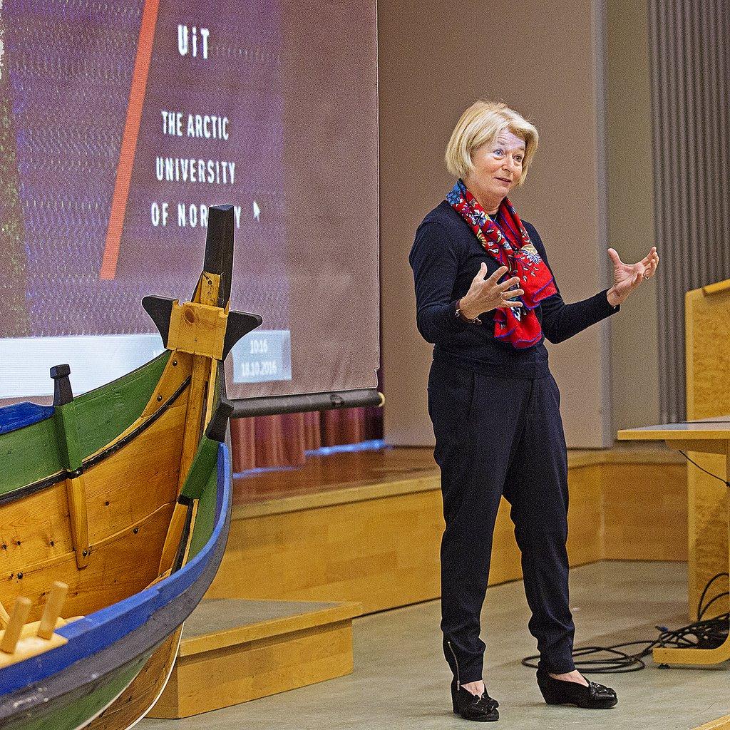 Rektor Anne Husebekk ved UiT