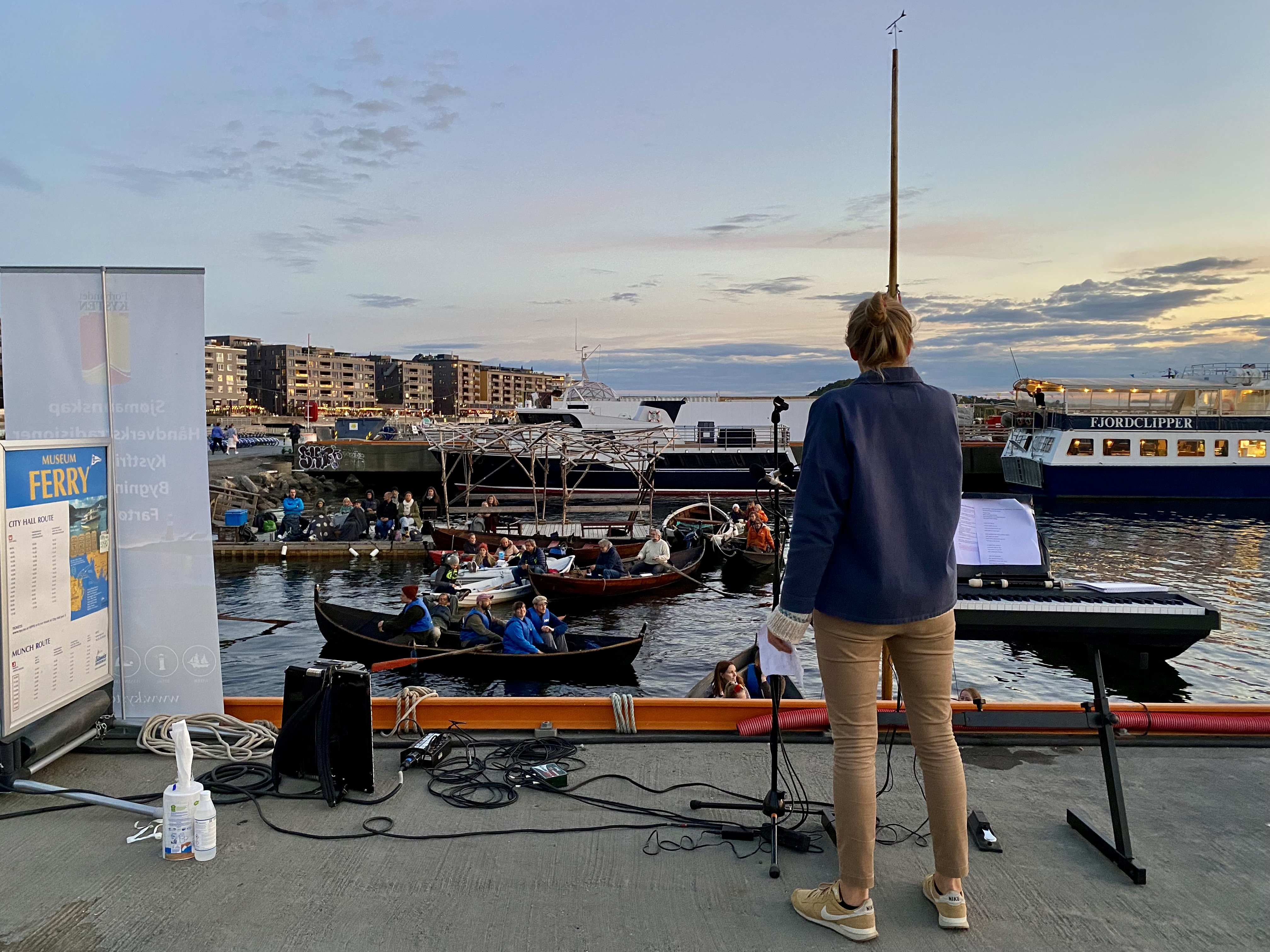 Prosjektleder Tuva Løkse forteller om filmen. Foto: Forbundet KYSTEN