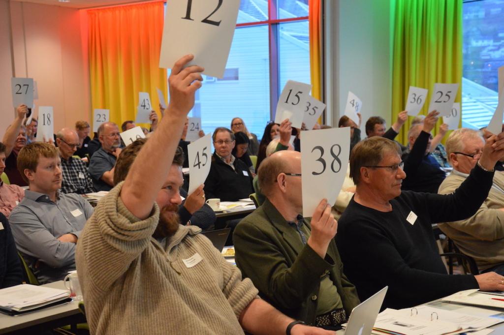 Både nye ambisjoner og nye folk ble stemt inn av landsmøtet i helgen. Foto: Tuva Løkse