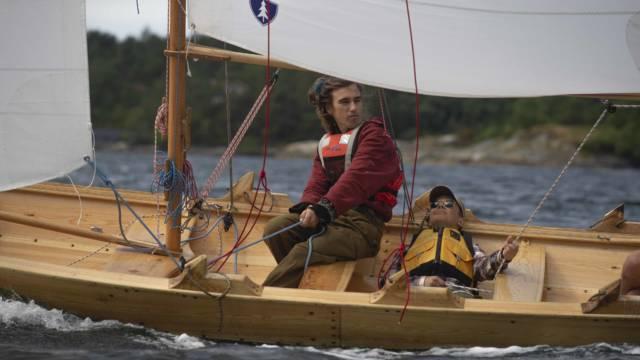 God vind på Fanafjorden. Foto: Roy A. Nilsen