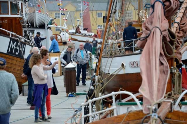 Rundt 140 båter deltok på landsstevnet i Kristiansund i helgen. Foto: Tuva Løkse