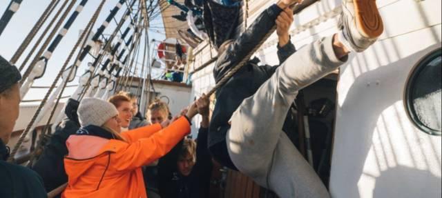 Det er alltid noe positivt å finne. Skoleskipene får mer å rutte med i 2021. Foto: Sørlandet