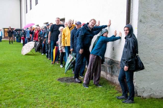 I juni arrangerte vi støtteaksjon for vikingskipene på Bygdøy. I dag jubler vi for at midler til nytt museumsbygg er i sikte. Foto: Bente Foldvik
