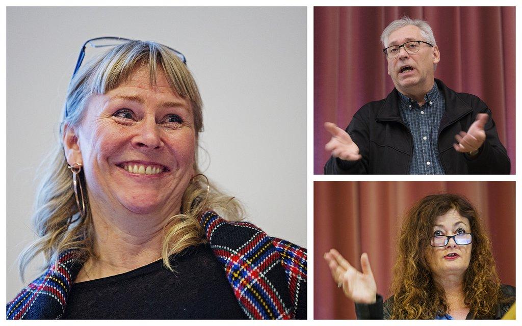 En kystlagsleder og to universitetsfolk deler sine innsikter med tradisjonsbåtkonferansen i Tromsø.